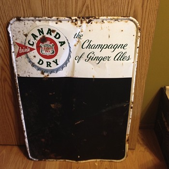 1930s Canada Dry  chalkboard  - Signs