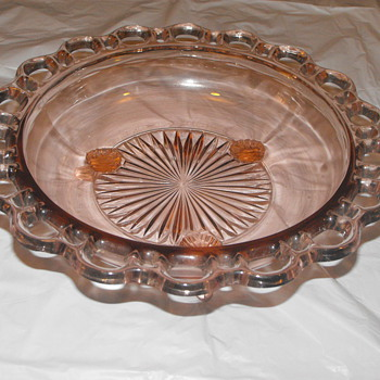 Old Colony Pink Bowl with Legs - Glassware