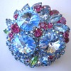 Huge Vintage Rhinestone Brooch