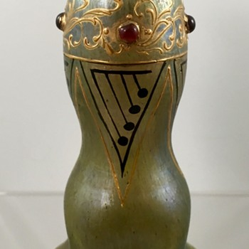 Loetz Jeweled Cabinet Vase, DEK 367, PN Unknown, ca. 1902-1903