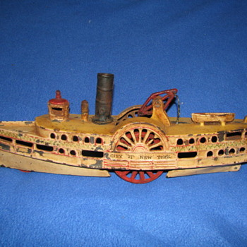 Vintage Cast Iron Ship