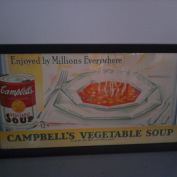 Campbell's Soup and Sunkist Oranges Trolley Car Signs