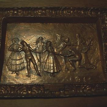 "metal picture ""La Gallina Ciega"" Goya"