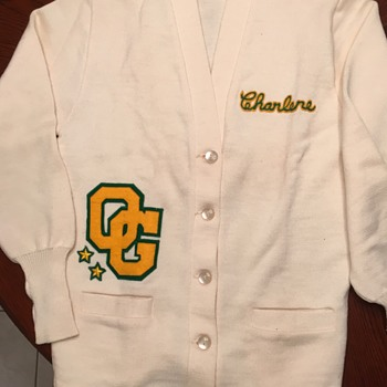 Vintage ladies letterman sweater