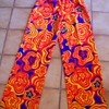 60's - 70's Mod Flower Power Pants