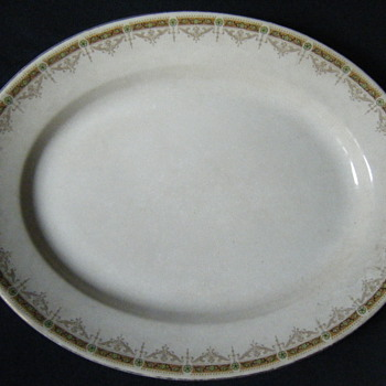 Vintage/Antique Printed mark 1896 Indented Broad arrow JOHN MADDOCK & SONS ENGLAND ROYAL VITREOUS PLATTER - China and Dinnerware