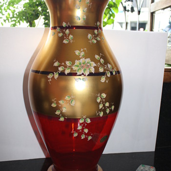 Murano Glass vase with 24ct. gold plating - Art Glass