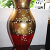Murano Glass vase with 24ct. gold plating