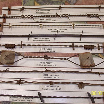 More Rare Antique Barbed Wire - Tools and Hardware