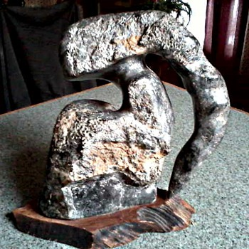 Unusual Abstract Stone Sculpture / Marked Unkown Artist and Age. - Visual Art