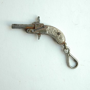 antique victorian Miniature Cap Gun Pistol , germany, late 19th century