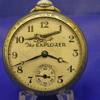 1929 The Explorer Pocket Watch by E Ingraham Co. - Pocket Watches