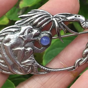 Bernard Instone Silver Brooch
