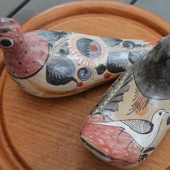 Tonala Mexican Pottery Doves - Art Pottery
