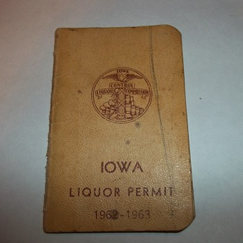 LIQUOR PERMIT BOOK