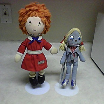 ORPHAN ANNIE AND LEVIS RAG DOLLS