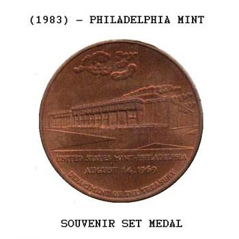 1983 - U.S. Mint Souvenir Set Medal - Philadelphia