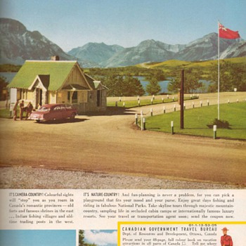 1953 - Canada Travel Bureau Advertisements - Advertising