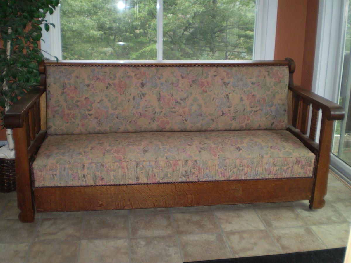 arts crafts sleeper sofa collectors weekly. Black Bedroom Furniture Sets. Home Design Ideas