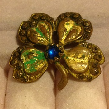 Four Leaf Clover  Interesting Brooch/Pin