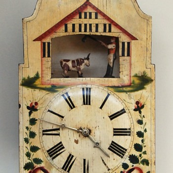 A Black Forest Butcher Automaton Clock