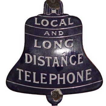 Local Long Distance Telephone Bell - Signs