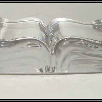 St. Louis  France - Crystal Glass Book - Art Glass