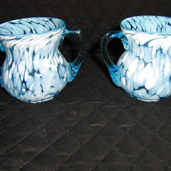 Sugar and creamer hand blown glass???? - Art Glass