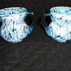 Sugar and creamer hand blown glass????