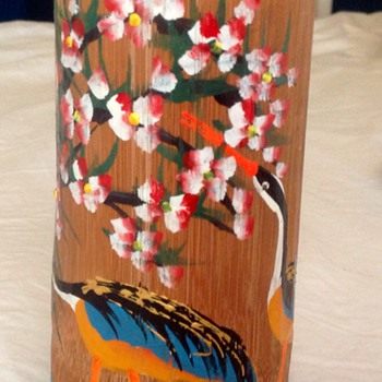 Hollow bamboo holder
