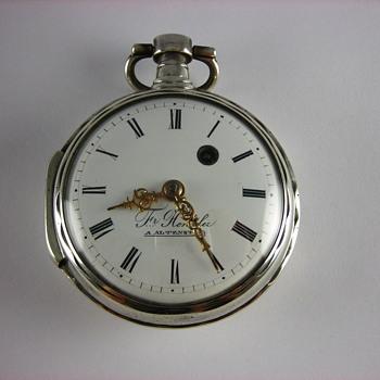 German Verge Fusee Pocket Watch