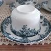 antique or vintage blue flow ceramic made in England