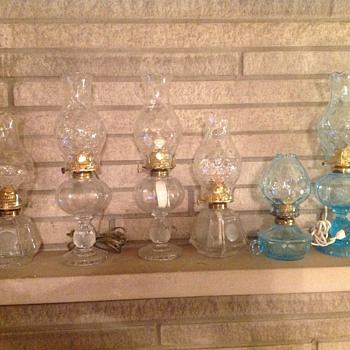 Some of my Lamps - Glassware