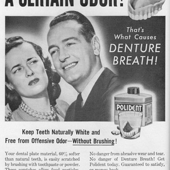 1953 - Polident Advertisement - Advertising