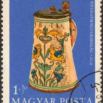 "Hungary - ""Antique Pottery"" Postage Stamps"