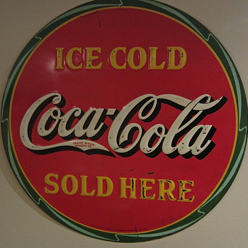 Coca Cola disc sign 1932 - Coca-Cola