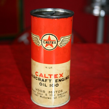 caltex oil can