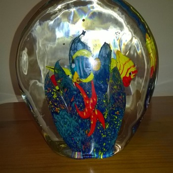 My Murano Glass large ocean scene  - Art Glass