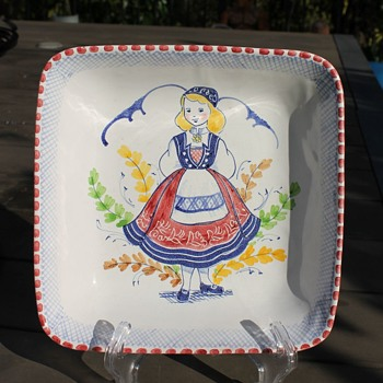 Hand painted Norwegian dish -1953? - Kitchen