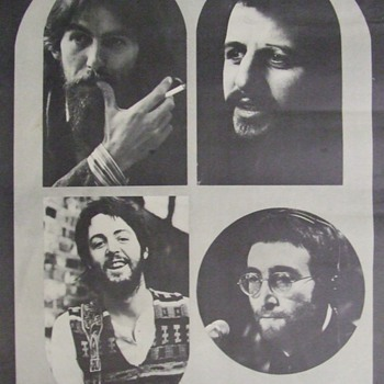More of the 1960's-Early 1970's Beatles/George Harrison Poster Collection - Music Memorabilia