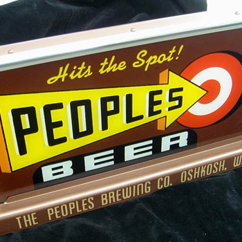 People's Brewing Co. lighted sign-Oshkosh,WI - Breweriana