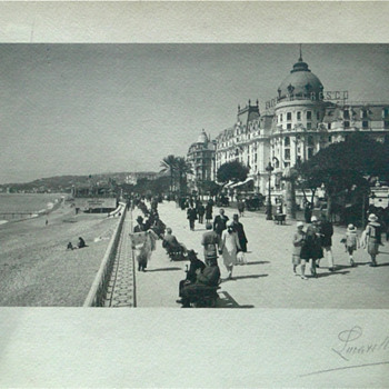 Signed Lucarelli. Hotel Negresco, Nice, France. Photo on paper.