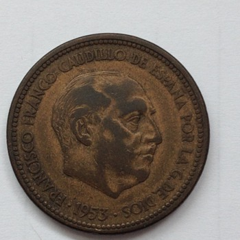 1953 Spanish coin