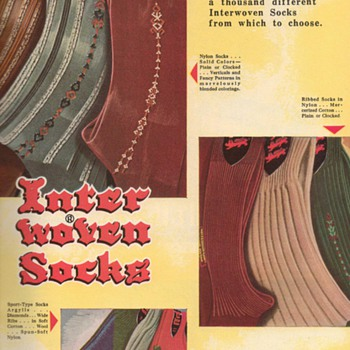 1951 - Inter Woven Socks Advertisement - Advertising