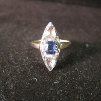 Georgian Diamond and Sapphire Ring