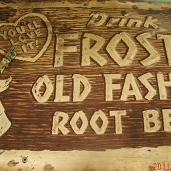 "Old ""Drink Frostie"" Sign - Advertising"