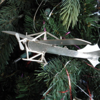 WWI warplane Xmas ornaments - Christmas