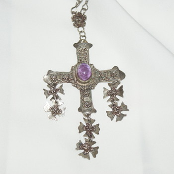 Vintage Mexican Yalalag Cross