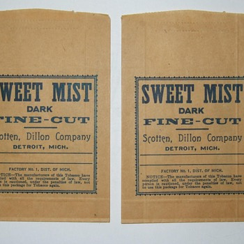 Sweet Mist tobacco pouches - Advertising