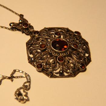Art Deco 935 silver pendant